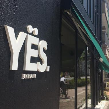 YES by hair